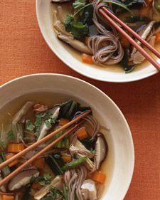 Lemongrass Chicken Soba Noodle Soup looks delicious -- sub tamari for the soy sauce and use skinless chicken breasts for Phase 1.