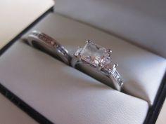 Radiant Cut ct Center Stone Engagement Ring in Platinum Ritani Setting (Wedding Band Negotiable) Radiant Engagement Rings, Radiant Cut, Wedding Bands, Bling, Stone, Diamond, Jewelry, Jewel, Rock