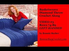 [Free Pattern] Spectacular Basketweave Diamond Throw With Matching Pillow To Add Textural Interest To Your Surroundings – Page 2 of 2 – Knit And Crochet Daily – Knitting For Beginners Easy Crochet Hat, Crochet Crowd, Crochet Cable, Crochet Shell Stitch, Crochet Beanie Hat, Baby Afghan Crochet, Free Crochet, Crochet Blankets, Crocheted Afghans