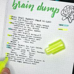 Bullet Journal Brain Dump for Teachers