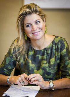 Queen Maxima of the Netherlands visited at the Foundation in Doorn