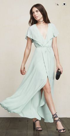 38f84739d4d7 NWT Reformation Harwood Wrap Dress in Soft Blue! M! Gorgeous SOLD OUT!   258!  Reformation  WrapDress  Cocktail