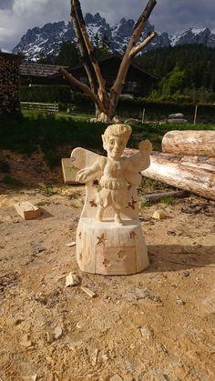 Törfchen Mount Rushmore, Garden Sculpture, Mountains, Outdoor Decor, Nature, Home Decor, Art, Atelier, Wood Art
