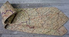 "rare parachute silk ""British Escape Map"" mens tie c. 1940s, Outdoor Blanket, Vintage Fashion, British, Map, Silk, Location Map, Fashion Vintage, Maps"