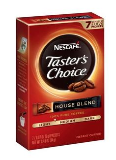 NESCAFE TASTER'S CHOICE HOUSE BLEND INSTANT COFFEE, 7CT