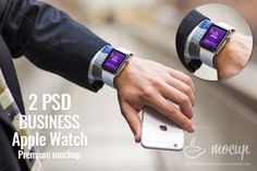 2 PSD Apple Watch Business edition by Mocup, mockupdeals.com on Creative Market