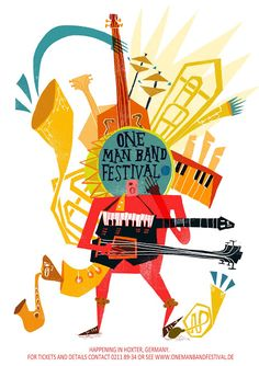Hannah Goodacre Illustration: One man band festival