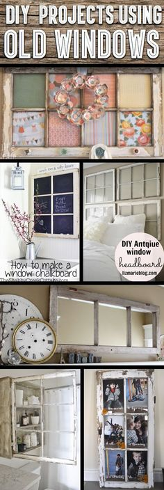 30+ DIY Craft Projects Using Old Vintage Windows