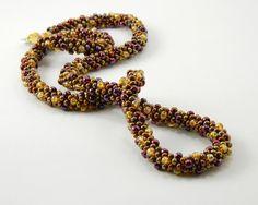 Metallic Kumihimo Braided Necklace with by MaryMorrisJewelry, $55.00