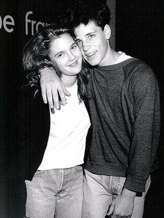 Drew Barrymore and Corey Haim