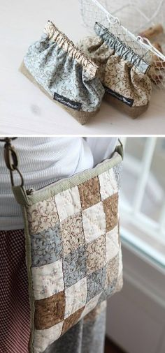 Handmade bag from fabric - Patchwork