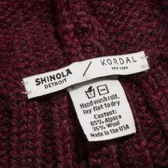 SHINOLA + KORDAL KNIT HAT