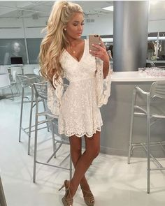 I love wearing white at any occasion. - Miladies.net