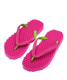 c65888f1e218a2 Loving this Paradise Pink Original Massage Thong Flip-Flop - Adult on   zulily!