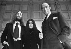 John Lennon and his wife Yoko Ono, meet with Pierre Trudeau Dec. 24, 1969 in Ottawa.