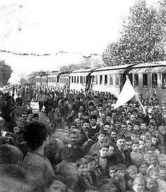 Οι εορτασμοί κατά την απελευθέρωση της Έδεσσας στις 30 Οκτωβρίου του 1912