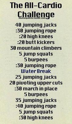 All-Cardio Challenge