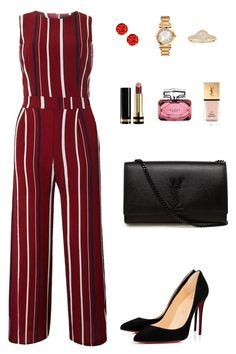 """Perfect stripes"" by allieofficial on Polyvore featuring Tenki, Christian Louboutin, Yves Saint Laurent, Versace and Gucci"