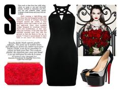 """Untitled #17"" by roxeyturner ❤ liked on Polyvore featuring Christian Louboutin and Oscar de la Renta"