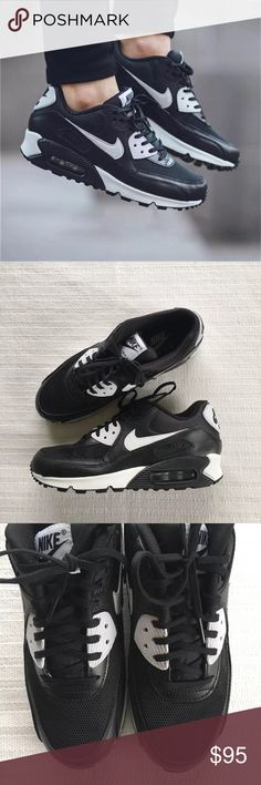 Women's Nike Air Max 90 Essentials Sneakers Women's Nike Air Max 90 Essentials Sneakers. Featuring durable foam midsole with a max air unit in the heel for maximum impact protection, premium upper leather for comfort and durability. Style/Color: 616730-023  * Women's size 9  * NEW in box (no lid) * No trades * 100% authentic Nike Shoes Sneakers