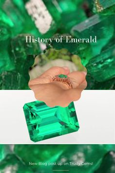 Learn more about the history of the emerald! Blog is live! Emerald Gemstone, Raw Gemstones, News Blog, Wedding Tips, Custom Jewelry, Perfect Wedding, Class Ring, Rings For Men, Invitations