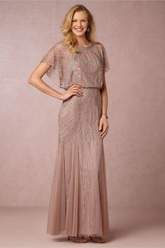 of the Bride Dresses with Sleeves Absolutely beautiful beaded mother-of-the-bride dress in rose mauve with beading. New at beautiful beaded mother-of-the-bride dress in rose mauve with beading. Mother Of The Bride Dresses Long, Mother Of Bride Outfits, Mothers Dresses, Long Mothers Dress, Mother Bride Dress, Dress Long, Mob Dresses, Bridesmaid Dresses, Dresses With Sleeves