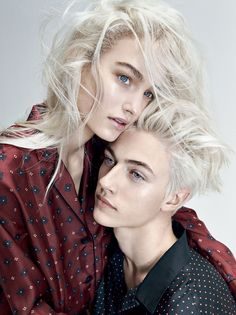 vmagazine: 'Blurred Lines': photographer: Patrick Demarchelier - fashion editor: Tonne Goodman - hair: Shay Ashual - make-up: Yadim - Vogue US May 2015 model Maartje Verhoef & model Lucky Blue Smith: Rag & Bone silk blouse / shirt. Lucky Blue Smith, Pretty People, Beautiful People, Pyper America Smith, Portrait Photography, Fashion Photography, Editorial Photography, Foto Fashion, Style Fashion