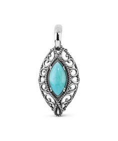 Love this Blue Amazonite & Sterling Silver Pendant on #zulily! #zulilyfinds