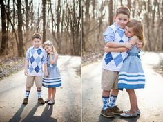Love their coordinating Easter outfits.  Not just the same old pastels.  Made for some really adorable kids portraits.  www.amystraka.com