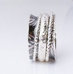 Mothers Day Sale - Spinner Ring, Sterling Silver Ring, Meditation Ring, Wedding Ring, Celtic Ring, Cocktail Ring, Artisan Jewelry
