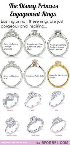 Disney Princess Engagement Rings…