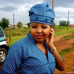 makoti shweshwe traditional dresses - style you 7 African Dresses For Women, African Fashion Dresses, African Women, Xhosa Attire, African Attire, Traditional Wedding Attire, Traditional Dresses, Shweshwe Dresses, Ghanaian Fashion