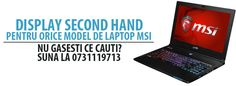Display laptop MSI, second hand perfect functional, cu garantie si montaj gratis. http://www.display-laptop-second-hand.ro/ro/71-display-laptop-msi