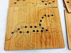 Wooden lacing toy  constellation lacing toy  lacing by MirusToys