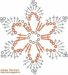 "Crochet Motif Image for ""crochet snowflakes free patterns"" Crochet Snowflake Pattern, Crochet Stars, Crochet Motifs, Crochet Snowflakes, Crochet Flower Patterns, Crochet Diagram, Thread Crochet, Diy Crochet, Crochet Doilies"