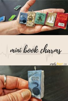 DIY Harry Potter craft ⚡ mini book charms!