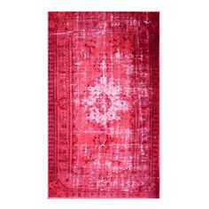 Daria rug. Add a pop of pattern to your living room or den with this artfully crafted rug, showcasing a distressed Persian-inspired motif in pink.