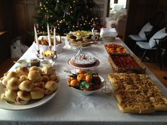 Food for the christmas party made by my mom and me. All homemade