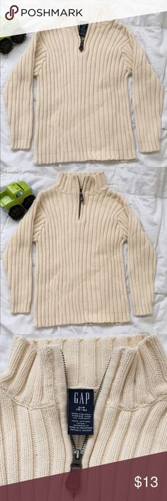 BOGO 50% off Boys GAP Sweater Boys GAP Sweater   Size: S (5-6)   100% cotton   Color: cream Thick and warm. Great for the winter!  Good condition.  Questions? Please ask prior to purchasing. GAP Shirts & Tops Sweaters