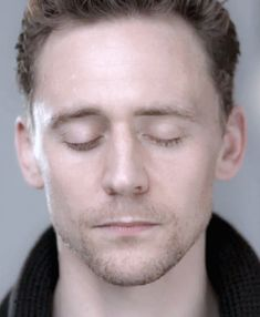*gif* I love how his pupils dilated, and I'm not just pinning this because its Tom. Eyes have always fascinated me, and his are gorgeous, but I just love to see them open and all the motion in just one action.