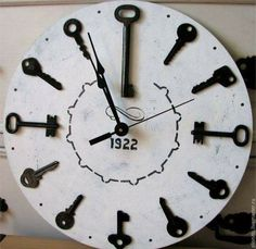 Watches - decor: A specialty of this watch is the decorati Uhren – Dekor: Eine Besonderheit dieser Uhr ist die Dekoration … Watch decor: A specialty of this watch is the decoration … - Clock Art, Diy Clock, Clock Decor, Diy Wall Decor, Clock Ideas, Unusual Clocks, Cool Clocks, Unique Wall Clocks, Diy Wall Clocks