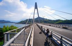 Shimanami Kaido links Imabari in Shikoku with Onomichi, Hiroshima Prefecture and is a bicycle-friendly 70km route across six islands of outstanding natural beauty.