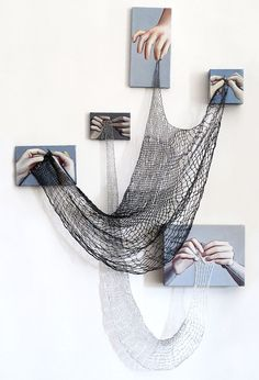 Cats Toys Ideas - Oh my this is cool. I wish I had gotten my moms hands. But I could start now. - Ideal toys for small cats Arte Linear, Instalation Art, Inspiration Artistique, Knit Art, Ideal Toys, Art Sculpture, Abstract Sculpture, Metal Sculptures, Abstract Art