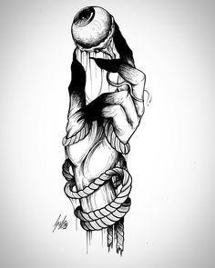Tattoos And Body Art tattoo o tatoo Creepy Drawings, Creepy Art, Cool Drawings, Pencil Drawings, Creepy Sketches, Tattoo Sketches, Tattoo Drawings, Body Art Tattoos, Art Sketches