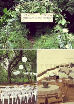 Like the happily ever after sign Outdoor Wedding Lights | Wedding Lights | Inspiration | Lights4fun.co.uk