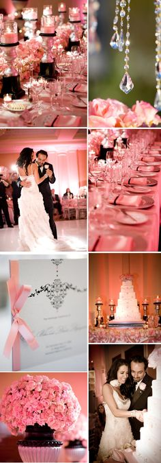 i want a pink wedding i want everything to be pink even have a part of my wedding dress to be pink lol