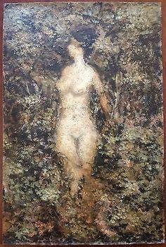 Tableau-Peinture-Huile-Non-Signe-Painting-Oil-Not-Signed