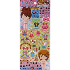 Q-lia Dressup Stickers: Face and Dress Love Rock