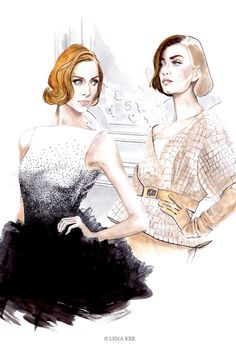 shu84: Lena Ker Fashion Illustrations