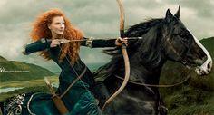 Jessica Chastain posa como Merida de Brave para Annie Leibovitz